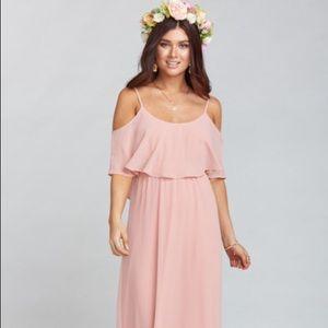 Show Me Your Mumu Caitlin Ruffle Maxi Dress Med